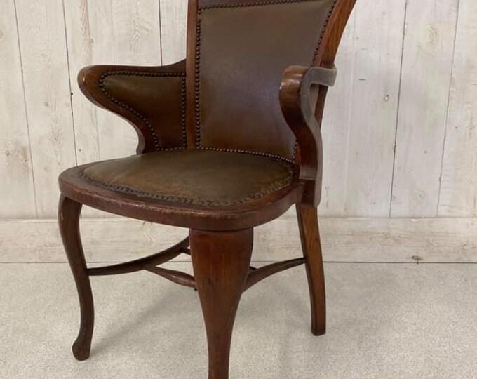 Vintage Antique C1940 Office Desk Chair