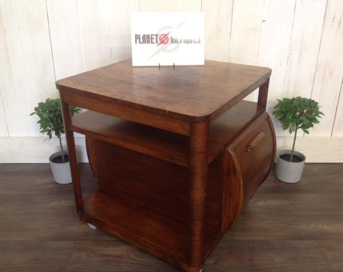 Rare Art Deco Cocktail Cabinet Coffee Table