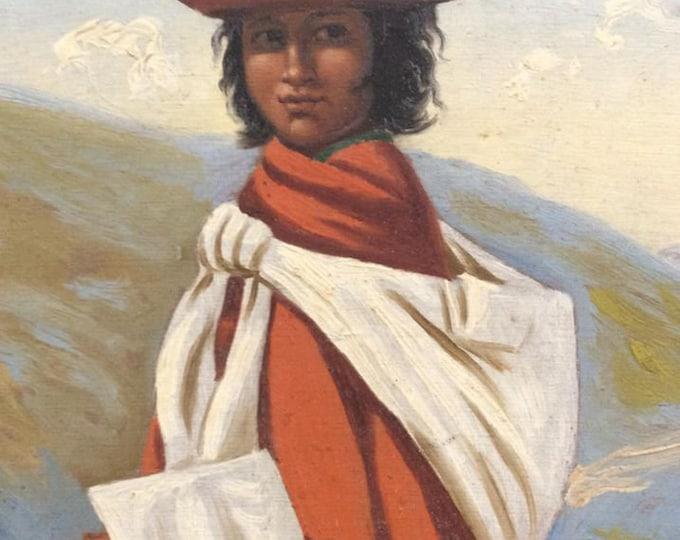 South American Portrait Oil
