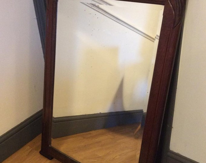 French Art Deco Large Bevelled Edge Mirror