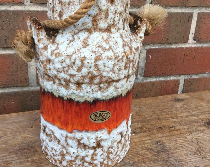 West German Mid Century Vase Tupeko