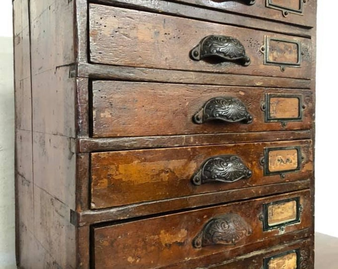 Small Bank of Drawers Collectors Chest
