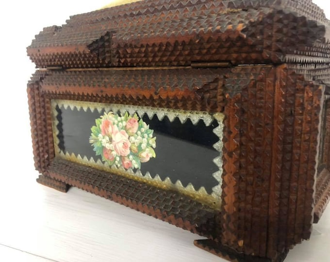 Substantial Tramp Art Casket Box