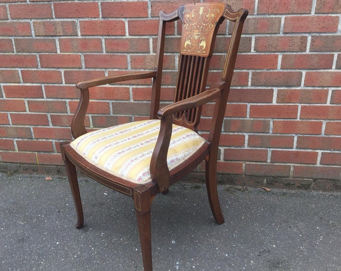 Edwardian Inlayed Elbow Chair