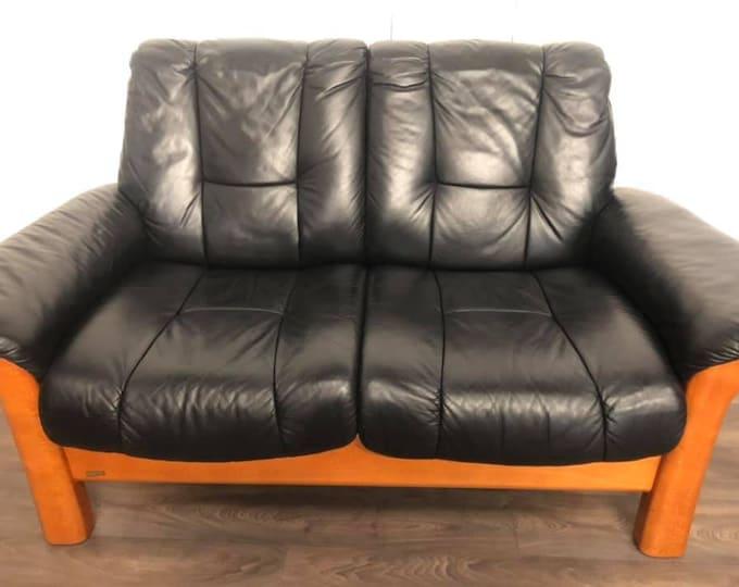 Ekornes Leather Sofa