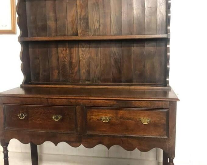 Large Antique Oak Kitchen Dresser