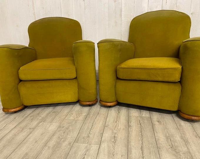 Par of Art Deco Armchairs