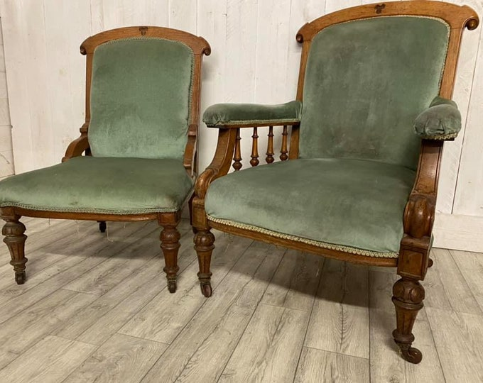 Victorian Laddies and Gents Armchairs