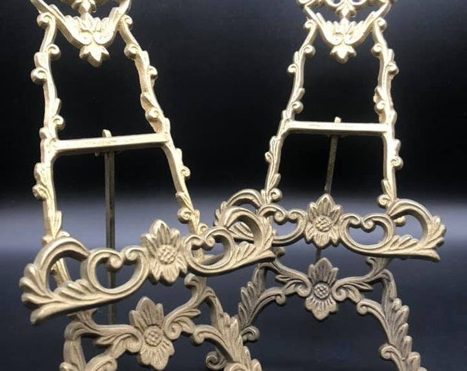 Pair of Miniature Antique Easels Picture Frames