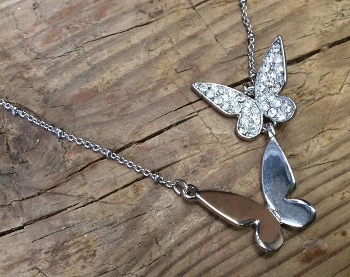 Lovely Girls 23cm Butterfly Necklace