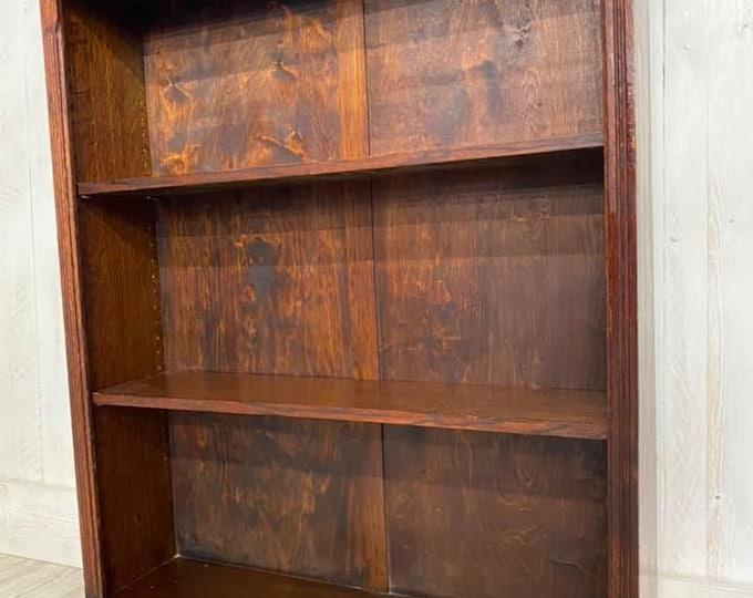 Oak Open Bookcase C1930