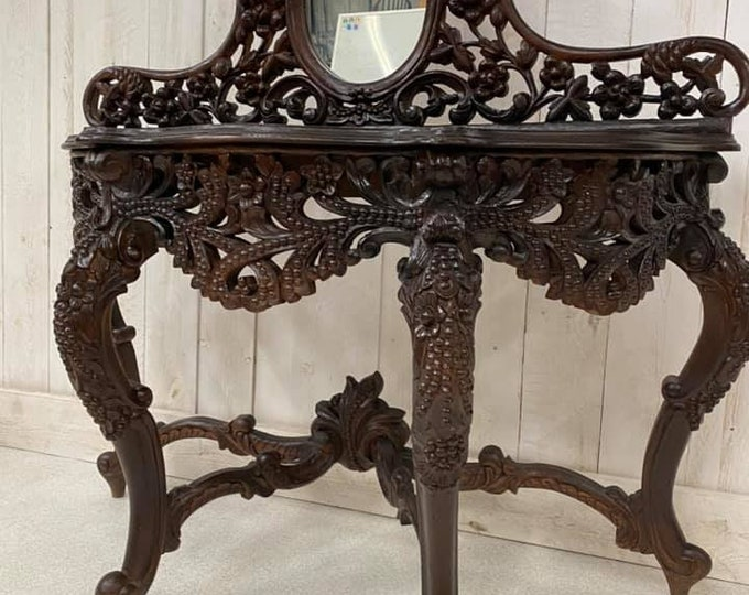 Large Carved Console Table