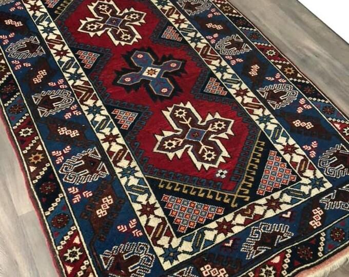 Handmade Middle Eastern Rug C1940 195cm x 123