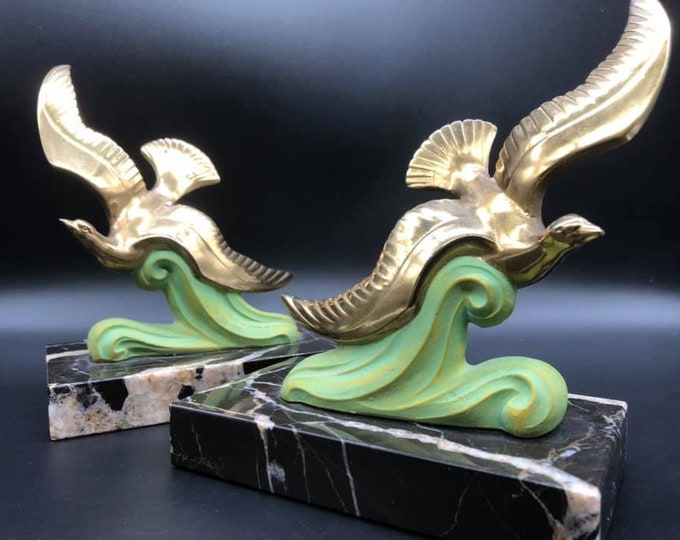 Art Deco Bird Bookends