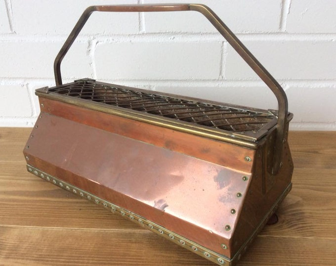 Stunning Brass and Copper Pub Bar Vintage Beer Drip Tray or Flower Basket