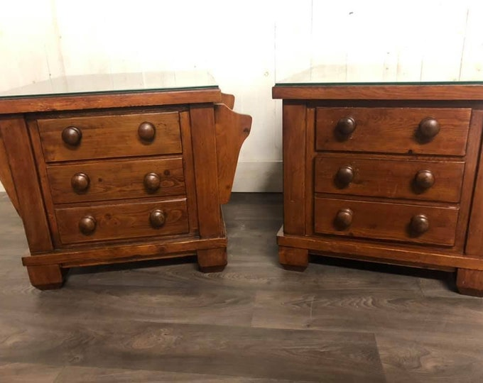 Pair of Vintage Chest of Drawers Coffee Table Bedside Cabinets