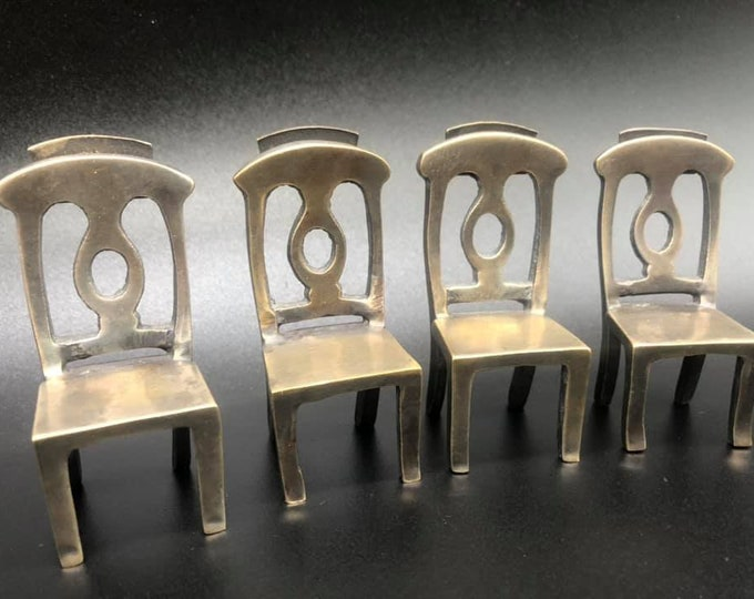 Set of Four Antique Place Card Chair Holders