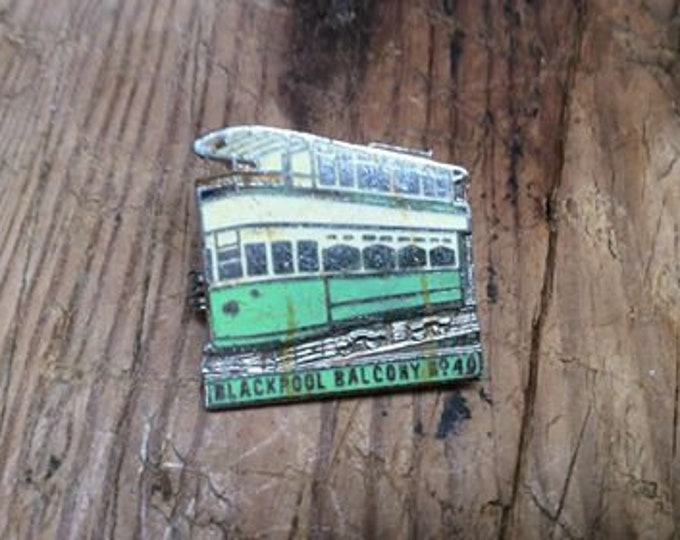 Vintage Blackpool Tram Brooch JO93
