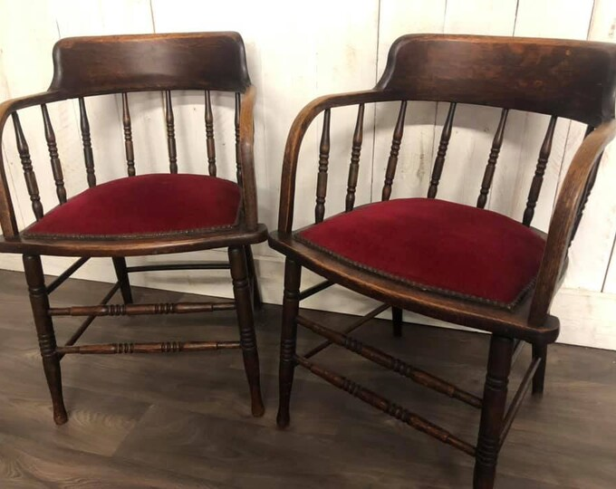 Pair of Edwardian Office Chairs
