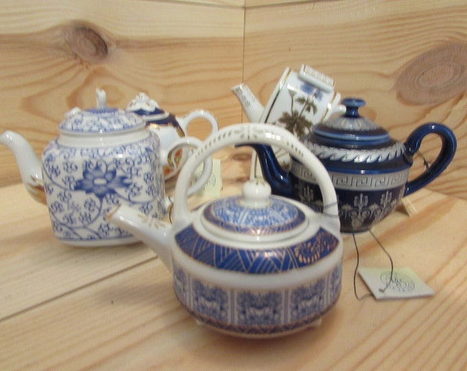 Collection of 5 Miniature Teapots