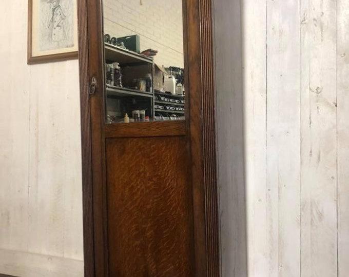 Antique C1930 Hall Robe Coat Cupboard
