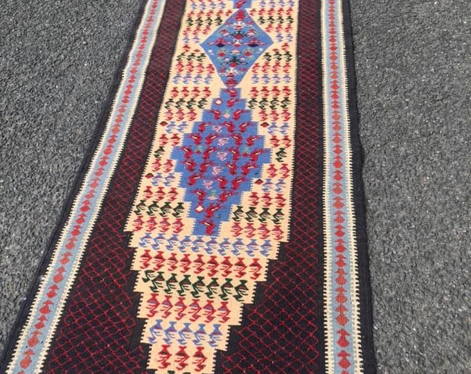 Vintage Killim Rug Hall Runner