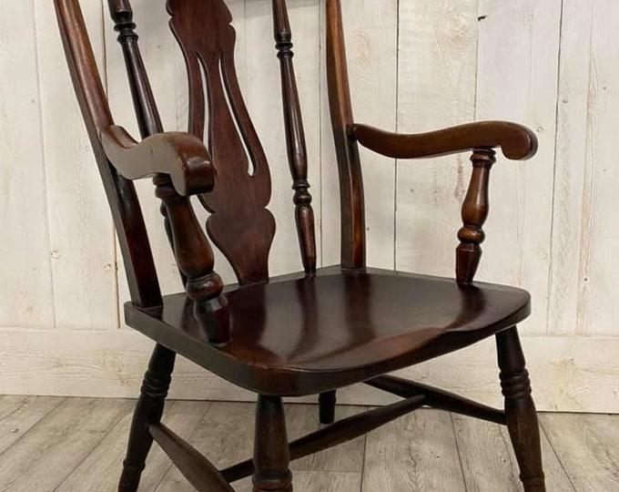 Victorian Beech Fireside Chair