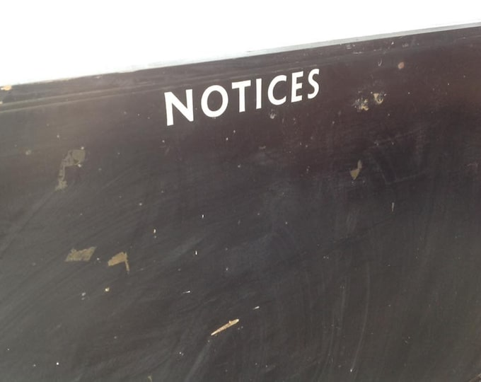 Extra Large Vintage Military Notice Board Kitchen Board Restaurant