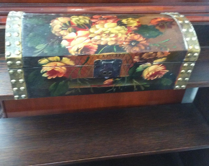 1980's Decorative Box Jewellery Box
