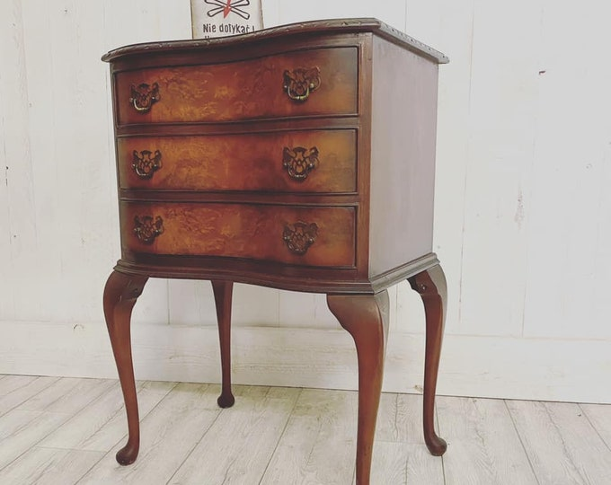 Small Walnut Chest of Drawers