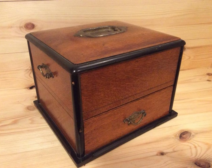 Antique Late 19th Century Stunning Collectors Box Cabinet