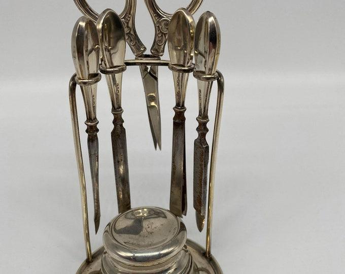 Solid Silver Edwardian Companion Nail Set