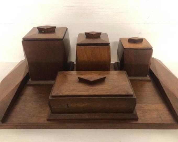 Art Deco Trinket Box Dressing Table Vanity Set