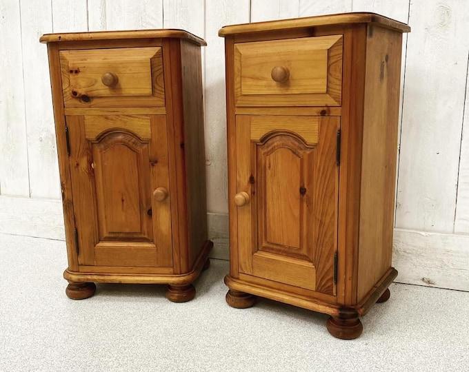 Pair of Vintage Pine Pot Cupboards