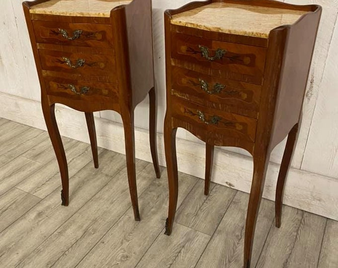 Pair of French Table De Nuits Bedsides