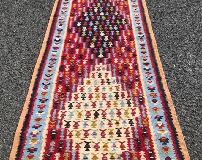 Antique Killim Rug Hall Runner