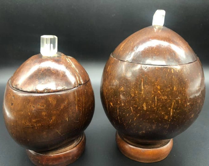Pair of Art Deco Nut Canisters