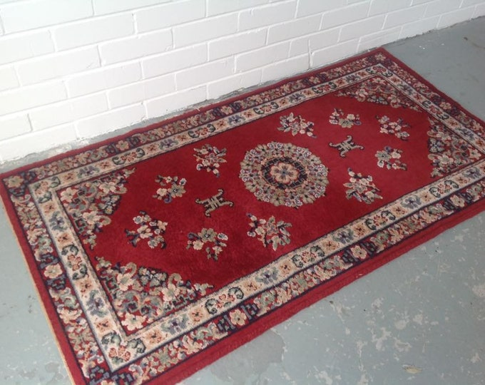 Superb Deep Red Ground Rug