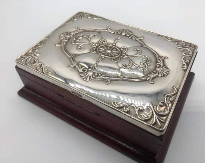 Stunning Silver Topped Jewellery Box