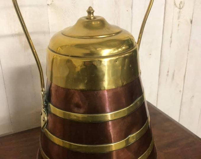 Antique Dutch Ash Pot Fireside Coal Pot C1880