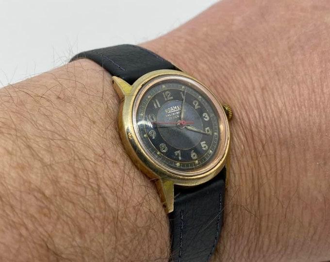 Vintage Roamer Pilot Style Glow Gentlemens Wristwatch