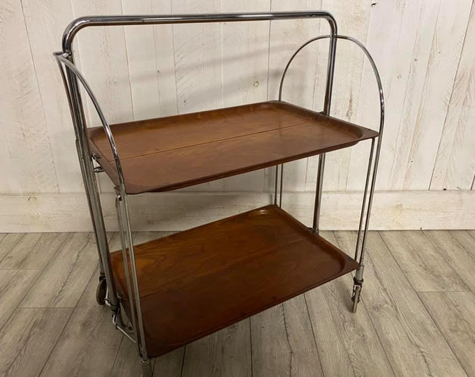 Mid Century Rare German Folding Trolley