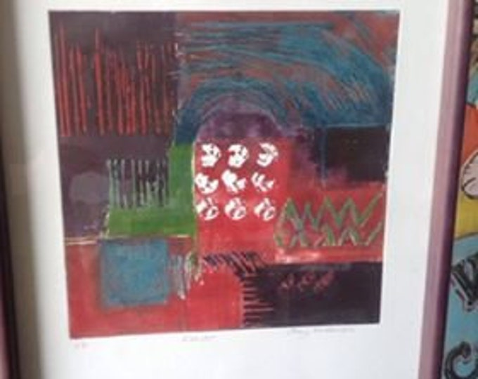 Signed Print Abstract Alcazar by Jenny Michaelson  Wall Art Collectable Artist Proof