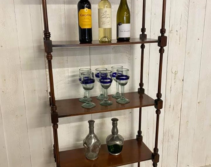 Mahogany 5 Tier Wotnot Gin Collection Display Stand