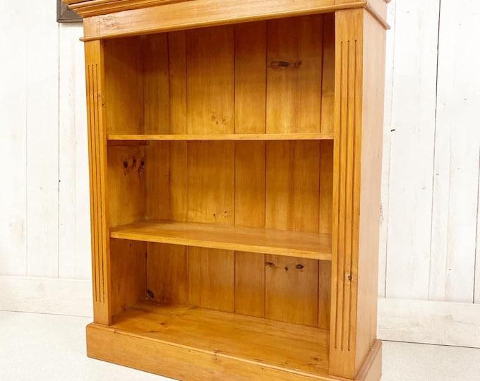 Antique Pine Open Bookcase