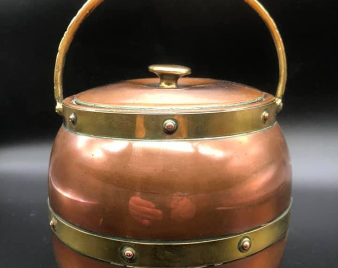 Linton Antique Copper and Brass Tea Caddy