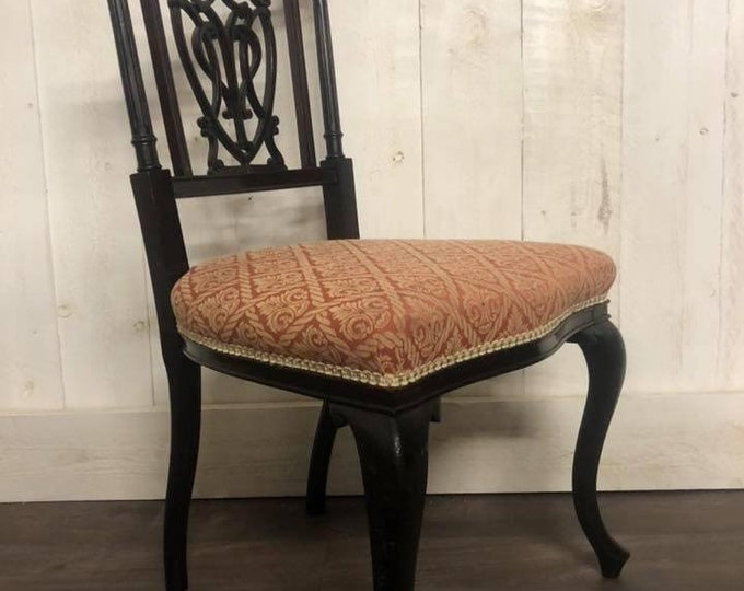 Victorian Ebonised Room Hall Chair