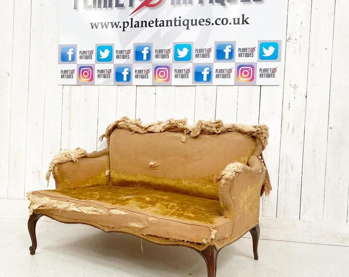 French Deconstructed Antique Sofa