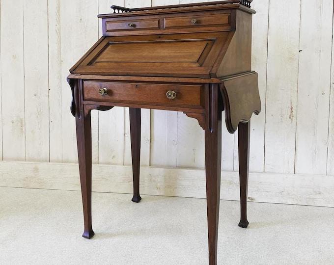 Edwardian Bureau De Dame Writing Desk