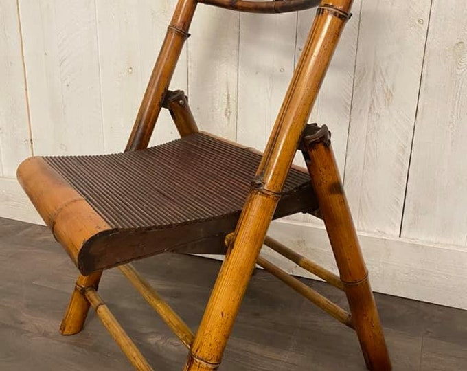 Victorian Folding Bamboo Chair